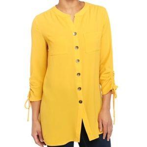 Ladies long tunic - yellow